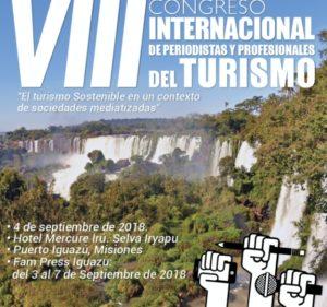 Iguazú: este martes comienza el VIII Congreso internacional de Periodistas y Profesionales del Turismo