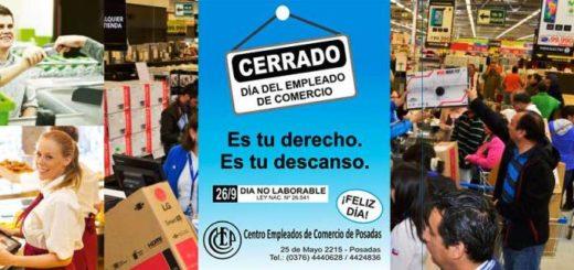 Los locales comerciales no abren sus puertas por el Día del Empleado de Comercio