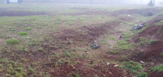 En Guaraní, un joven de 24 años murió tras despistarse con su moto