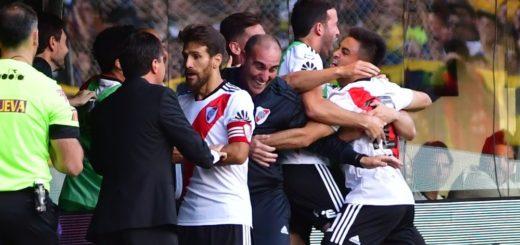 Mirá el golazo del Pity Martínez con el que River le gana a Boca