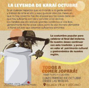 Este lunes, Karaí octubre en la Bajada Vieja