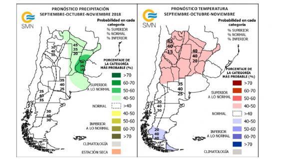 Con la llegada de las lluvias en primavera, regiones productivas del litoral y sur del país esperan aliviarse de la sequía