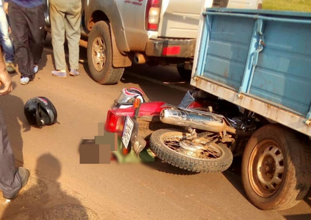 Falleció un motociclista que había chocado con una camioneta el viernes por la tarde en San Vicente
