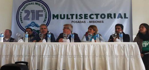 La Multisectorial 21F se presentó en Misiones y anticipó el Congreso del NEA a realizarse en Corrientes este mes