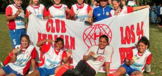"""Futbol Femenino: """"Las Globitas"""" se consagraron campeonas y jugarán los Juegos Evita nacionales"""