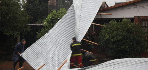 El paso de la tormenta causó daños materiales en la zona sur y centro de la Provincia