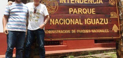 Víctor Laplace visitó el parque Nacional Iguazú