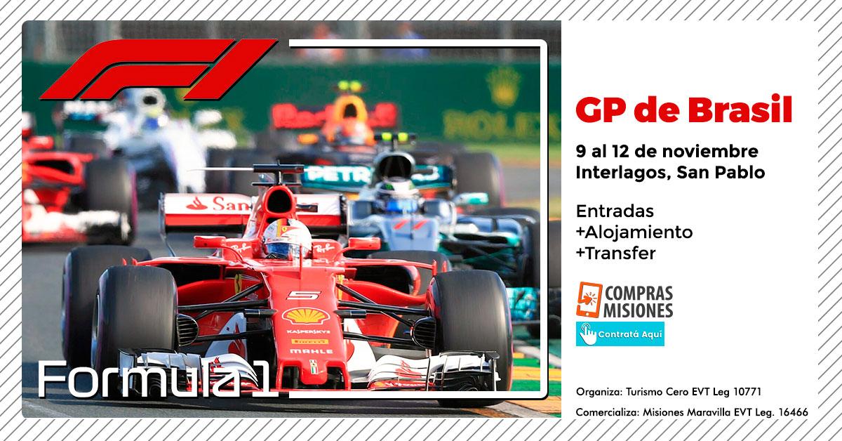 Fórmula 1 en Brasil: Compras Misiones te lleva