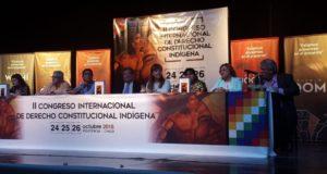 Integrantes de la Comunidad Mbyá Guaraní participan del II Congreso Internacional de Derecho Constitucional Indígena en Chaco