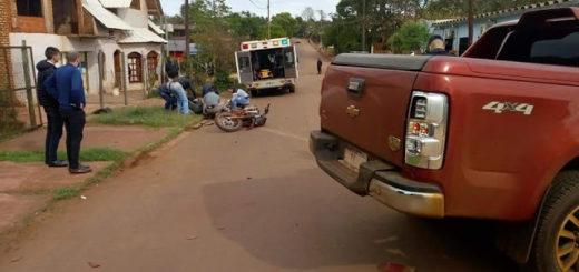 Motociclista hospitalizado tras chocar con una moto en San Vicente