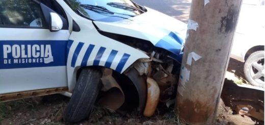 Posadas: el patrullero que atropelló a la mujer que esperaba el colectivo llevaba un herido al hospital y se descontroló al ser embestido antes por otro auto