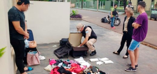 Detuvieron en Iguazú a una pareja luego de que recibiera más de ocho kilos de cocaína