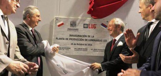 El gobernador de Misiones inauguró hoy una fábrica de Leds construida en su totalidad con inversión extranjera