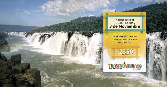 Turismo Misiones invita a una nueva salida grupal desde Posadas a los Saltos del Moconá