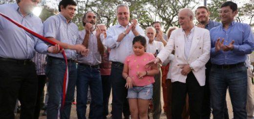 """Passalacqua y Losada habilitaron el renovado """"Parque Paraguayo"""""""