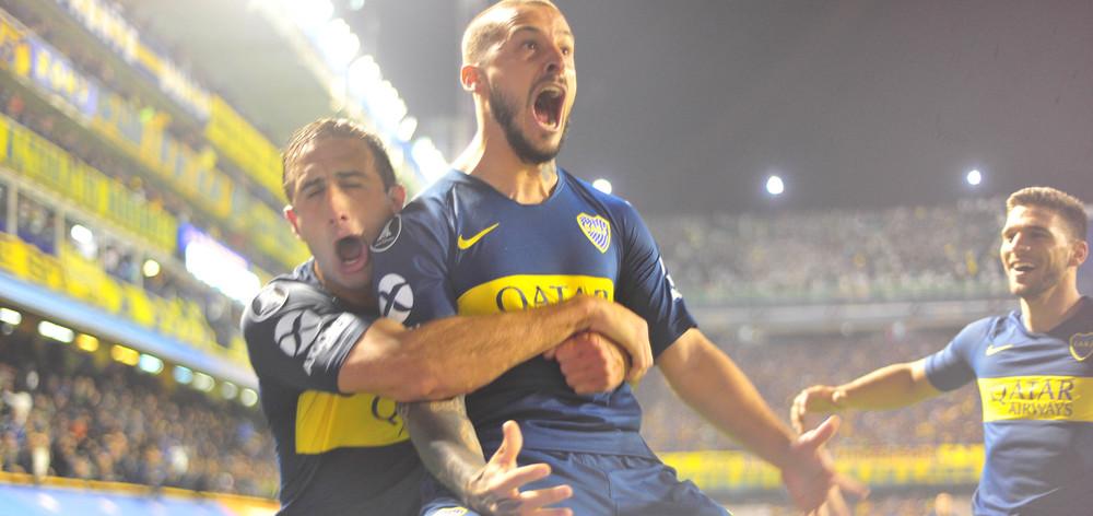 Con dos goles de Benedetto, Boca superó a Palmeiras y viaja a la revancha con una importante ventaja