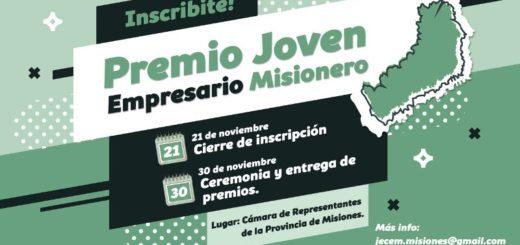 Mañana presentan la edición 2018 del Premio Joven Empresario Misionero