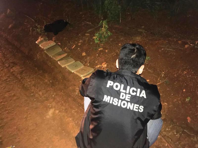 La Policía incautó11 panes de marihuana en zona de monte en Puerto Libertad