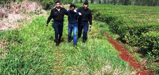 Capturaron a violento cuando agredía y amenazaba de muerte a su ex pareja en pleno monte en Campo Grande