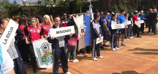 Integrantes de la policía de todo el país participan de las Olimpiadas de Oficiales que se desarrollan desde hoy y hasta el viernes en Posadas