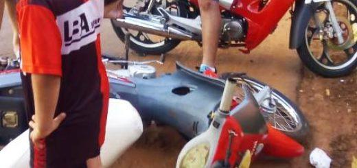Colisión de motos dejó dos heridos en Posadas
