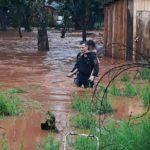 """Por el temporal en la zona Centro de Misiones el estadio """"Lobo"""" Fischer de Oberá quedó bajo agua"""