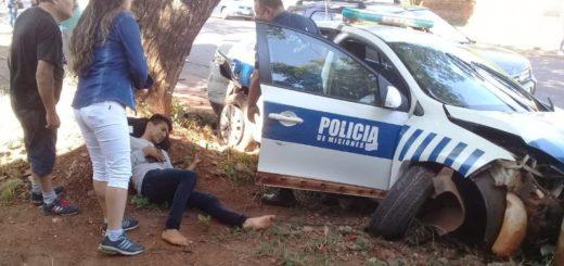 Posadas: un patrullero atropelló a dos personas que esperaban el colectivo