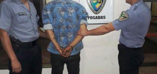 """""""Pablito"""" fue detenido en Posadas, era intensamente buscado por el robo de un automóvil en Oberá"""
