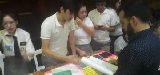 El colegio Roque González tuvo su feria de Ciencias con más de 40 trabajos de alumnos de secundaria