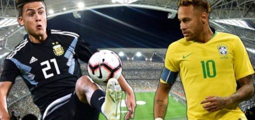Sin Messi pero con Neymar, Argentina y Brasil reeditan una nueva versión del Superclásico sudamericano
