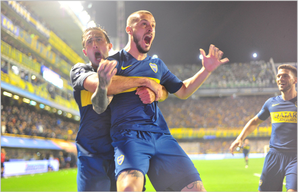 Mirá los dos goles de Benedetto ante Palmeiras que acercaron a Boca a la final de la Copa Libertadores