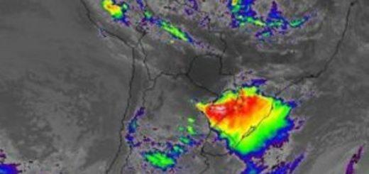 El núcleo de tormentas se acerca a la zona norte de Misiones