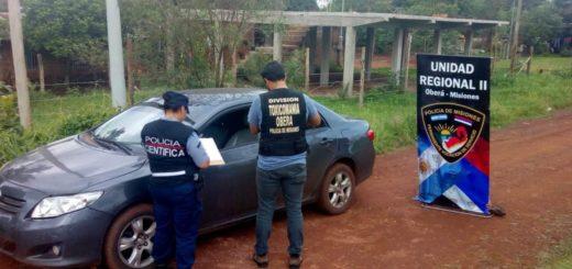 Ubicaron en Oberá un auto robado en Buenos Aires