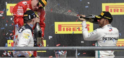 F1: Hamilton finalizó tercero en EE.UU. y quedó a un paso del campeonato