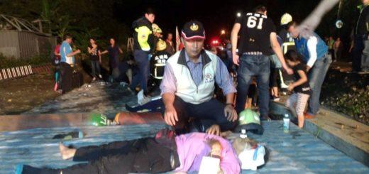 Tragedia: Al menos 17 muertos y 100 heridos al descarrilar un tren en Taiwán