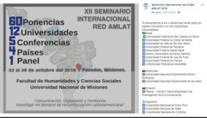 Los grupos de Investigación de la Red AMLAT se reunirán en Posadas desde este lunes