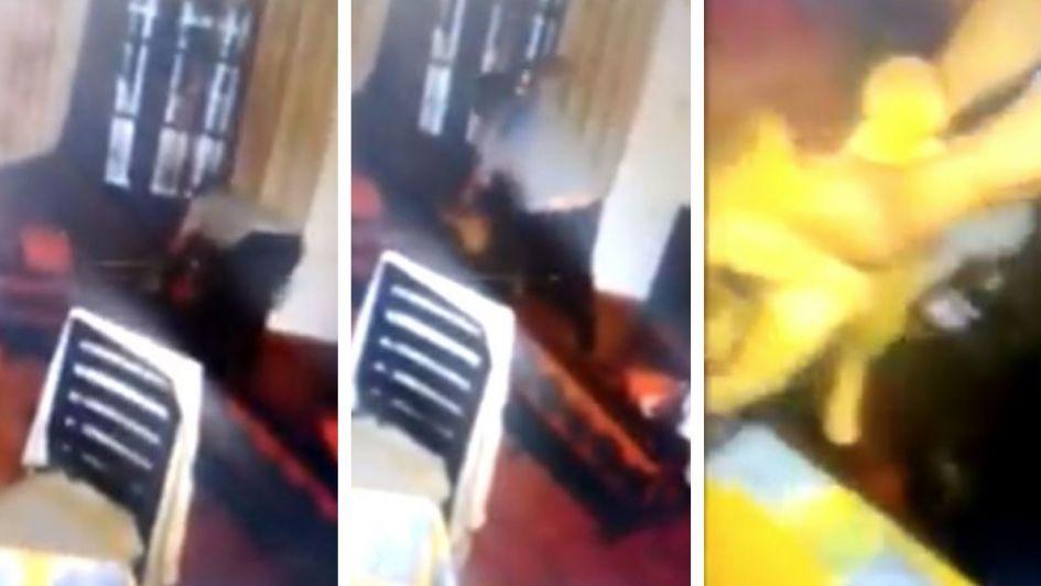 Maltrato animal: golpeó brutalmente a un gato que ingresó a su casa, lo filmaron y lo denunciaron