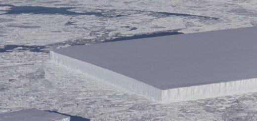 Hallaron un iceberg rectangular perfecto en la Antártida