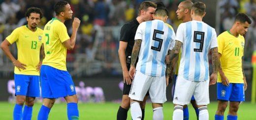 #ClásicoAmistoso: Argentina y Brasil empatan sin goles al finalizar el primer tiempo