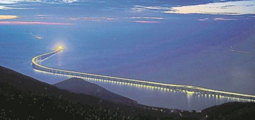 Megaobra: construyeron el puente más largo del mundo en China