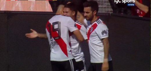 Al finalizar el primer tiempo,  River vence a Sarmiento de Resistencia por la Copa Argentina