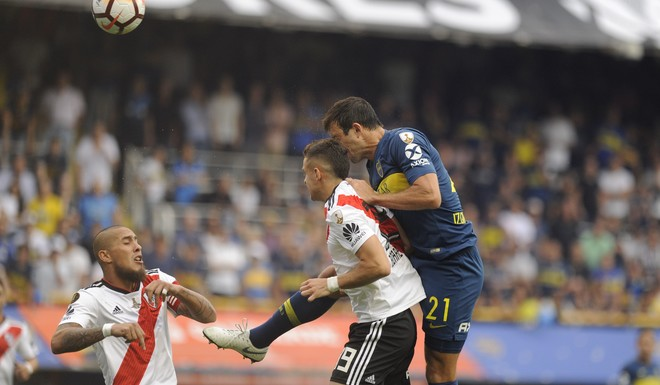 #SuperfinalLibertadores: Sobre el final del primer tiempo, Benedetto le da la ventaja a Boca