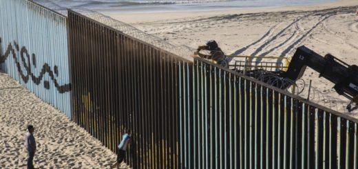 La caravana de inmigrantes hondureños llegó a la frontera entre México y Estados Unidos