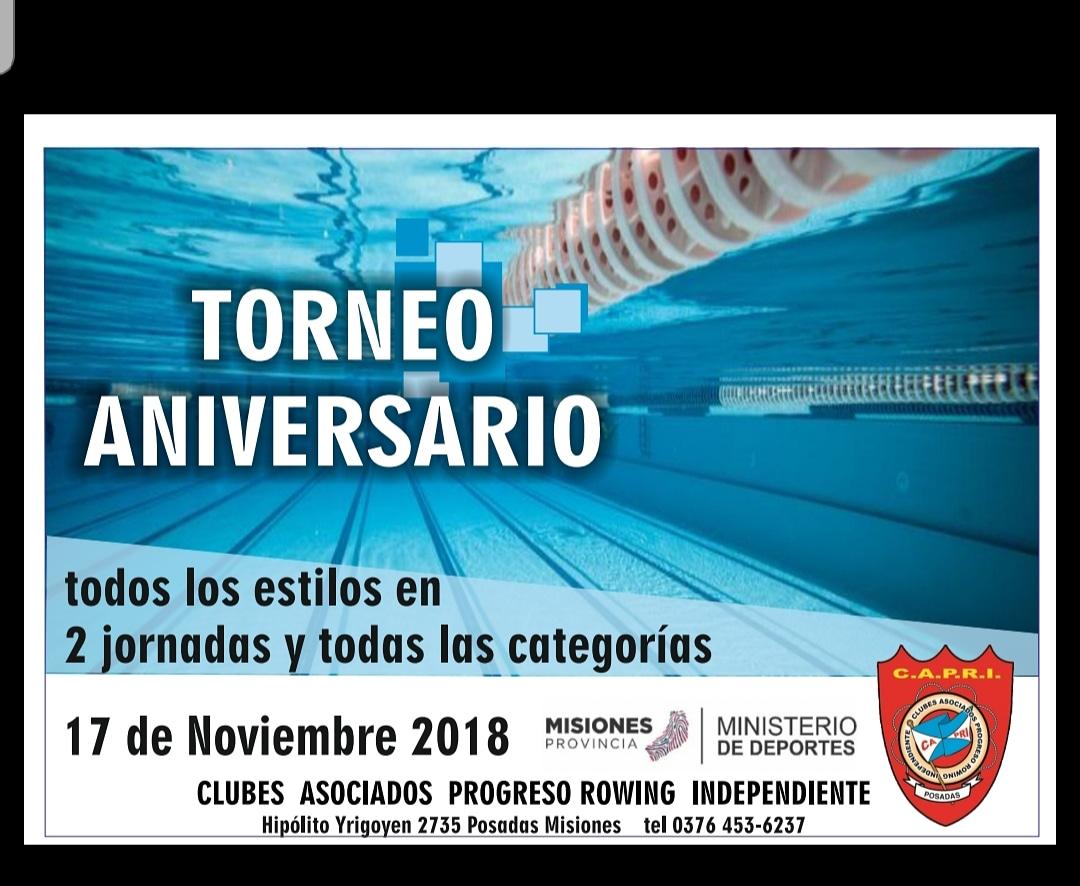 """Natación: Mañana se celebrará en Posadas la XIV edición del """"Torneo Internacional Aniversario del Club CAPRI """""""
