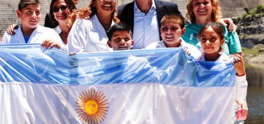 Macri recorrió las obras de un embalse que beneficiará a Catamarca y Santiago del Estero