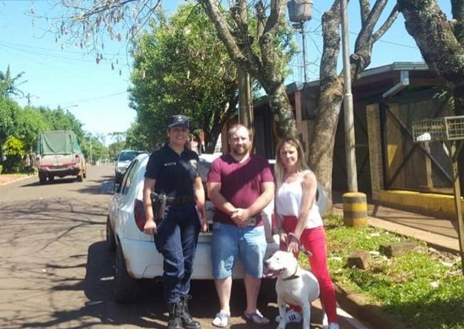 Tras la viralización de un video donde un pitbull era maltratado por un hombre, el perro se reencontró con su familia