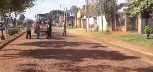 Vialidad realiza obras de pavimento sobre empedrado en Posadas
