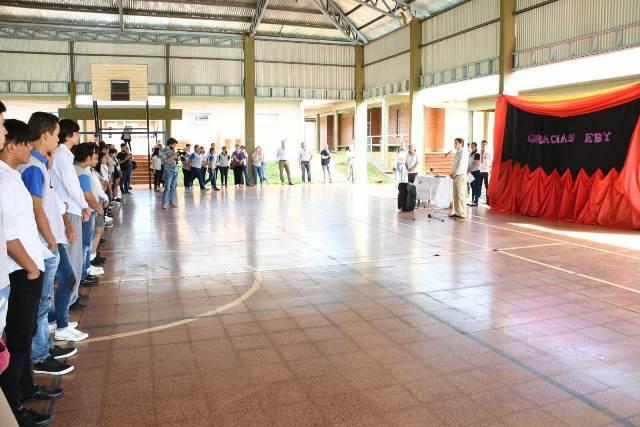 La EBY completa las obras de ampliación  de una escuela en San Isidro