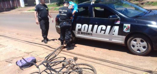 Posadas: intentó robar en casa de una jubilada y fue detenido cuando huía en una bicicleta