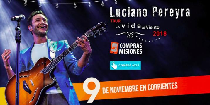 Estos son los ganadores de las entradas para disfrutar del show de Luciano Pereyra en Corrientes